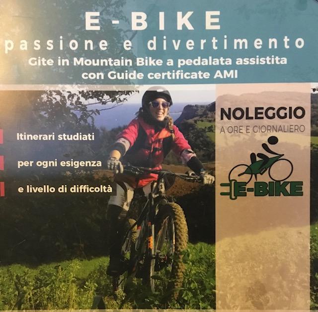 E-bike con pedalata assistita